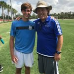 In the summer of 2017, Dominick Coniglio trained with Lynn University Men's Head Soccer Coach John Rootes and several new and incoming players for the University.