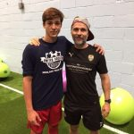 While in England, Dominick Coniglio spent a day training and going through a series of physical testing with John Wilson, Head of Sports Science & Medicine from Notts County FC